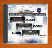 Продам CD-диск для синтезаторов Roland E300,  E500,  E600