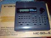 секвенсор Roland MC 50 mk II и звук. модуль Roland Sound Canvas sc 55